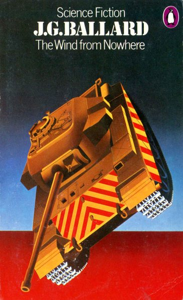 airbrush illustration of flying tank to represent the Wind from Nowhere