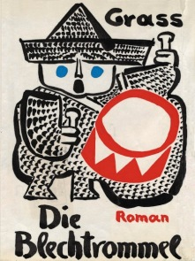 Günter Grass illustration for his novel Die Blechtrommel, showing boy with drum