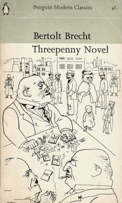 Penguin cover illustration by Georg Grosz for Berthold Brecht's The Threepenny Novel