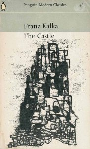 abstracted drawing by Erwin Fabian as cover illustration for Kafka's The Castle in Penguin Modern Classics series