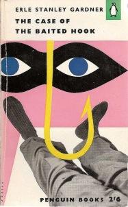 cover illustration for Erle Stanley Gardner novel with legs, eyes and hook